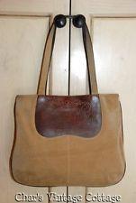 RALPH LAUREN  - Polo......Vintage Suede & Leather Equestrian Riding Bag Purse