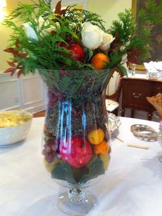 Food table floral design.