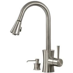 Pegasus FP0A5012BNV Luca Pull-Out Spray Kitchen Faucet with Soap Dispenser, Brushed Nickel (Tools & Home Improvement)  http://www.amazon.com/dp/B001ASIW9C/?tag=goandtalk-20  B001ASIW9C