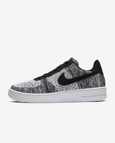 Nike Air Force 1 Flyknit 2.0 #nike #trainers #sneakers #mensshoes #menssneakers #mensfashion #grey #blackandwhite Men's Shoes, Nike Shoes, Sneakers Nike, Nike Trainers, Nike Air Force 1, Nike Flyknit, Basketball Shoes, Nike Free, Pure Products