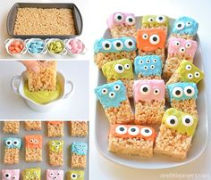 These Rice Krispie Treat Monsters are SO EASY and they're completely adorable! So awesome for Halloween party! Or even a monster birthday party! So fun!