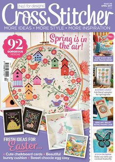 "Cross Stitcher magazine issue 316 April 2017 ""Spring is in the air"""