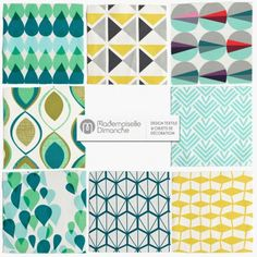 tissu au m tre coton japonais motifs vagues tissu coton. Black Bedroom Furniture Sets. Home Design Ideas