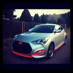 Wow! Unique colors on this customized Hyundai Veloster