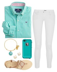 """""""sorry was gone for a day without wifi"""" by mmorgann ❤ liked on Polyvore featuring Chan Luu, Vineyard Vines, Jack Rogers, Alex and Ani, LifeProof and Kate Spade"""
