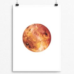 Beautifully Painted with Gouache Solar System Series Venus Pear Tea Paperie Solar System Series INSTANT DIGITAL PRINT No Physical Paintings