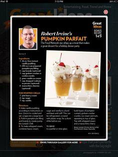 Chef Robert Irvine's Pumpkin Parfait