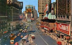 New York City, 1956 (colorized image)