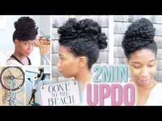 5 Gorgeous Natural Hair Updos That Can Be Done in 7 Minutes or Less | Black Girl with Long Hair