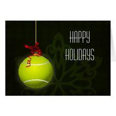 Shop for a tennis player Christmas Cards created by XmasMall. Homemade Christmas Cards, Christmas Tree Cards, Holiday Greeting Cards, Christmas Greetings, Christmas Diy, Card Tutorials, Tennis, Branding, Xmas Holidays