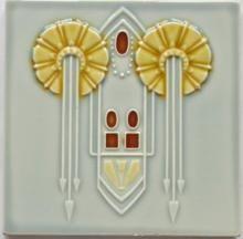 Antique German Art Nouveau/Jugendstil Tile for sale at GoAntiques