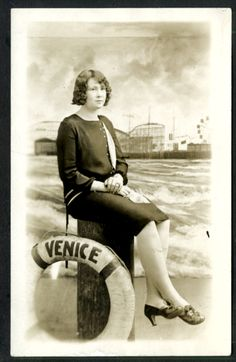 +~+~ Vintage Photograph ~+~+  That doesn't look too comfortable.  1920's Venice Beach