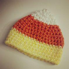 Crochet Newborn Candy Corn Hat  Made to by AlishaMayCreations, $23.00