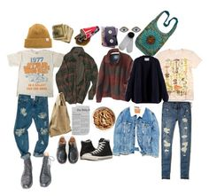"""Indie"" by alexggee on Polyvore featuring art and vintage"