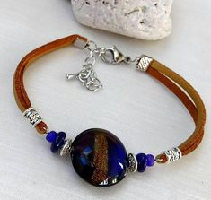 Hey, I found this really awesome Etsy listing at https://www.etsy.com/listing/518819186/murano-glass-bead-bracelet-glass-beads