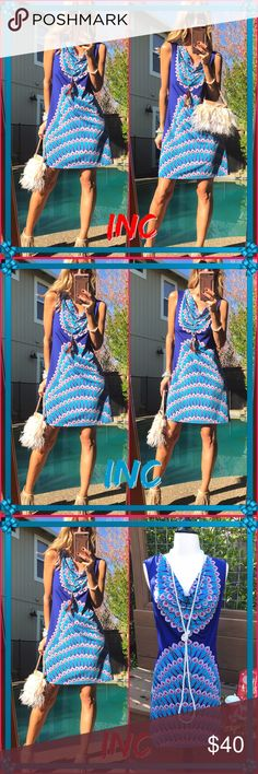 💙INC💙 I have favorites and a lot I keep😍, this is definitely a huge love for me. The color is splendid, feels elegant yet chic fun. You can rock this even with boots and a cropped jacket for fall. It's excellent condition! INC International Concepts Dresses Midi