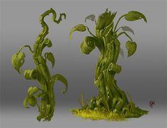 Concept Art. Plant 005, Raki Martinez on ArtStation at https://www.artstation.com/artwork/QWZ6x: