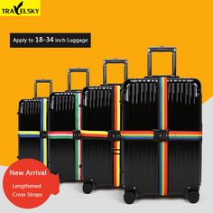Luggage Straps Adjustable Suitcase Belts with 3 Dial Digit Combination Travel Bag Accessories Gold Coins Amazing