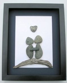 Unique COUPLE'S Gift Personalized Engagement Art by SticksnStone, $80.00