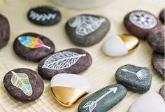 Celebrate every day with simple recipes and fun crafts for kids from Handmade Charlotte. Stone Crafts, Rock Crafts, Crafts To Make, Fun Crafts, Crafts For Kids, Arts And Crafts, Nature Crafts, Crafty Craft, Art Plastique