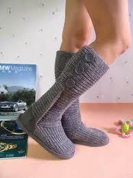 High Socks, Fashion, Crochet Shoes, Moda, Thigh High Socks, Fashion Styles, Stockings, Fashion Illustrations
