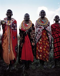 Masai warriors posing for a shot outside Nairobi.