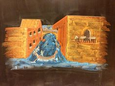 Waldorf ~ 7th grade ~ Perspective Drawing ~ Venice ~ chalkboard drawing