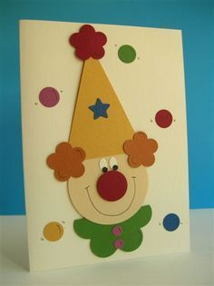 Punch Art Fun: clown and juggling balls Clown Crafts, Circus Crafts, Carnival Crafts, Paper Punch Art, Punch Art Cards, Arte Punch, Art For Kids, Crafts For Kids, Clown Party