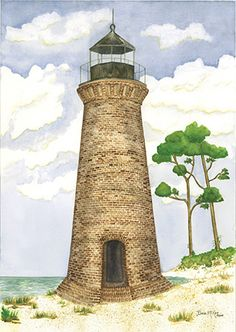 Round Island Lighthouse, Pascagoula, MS