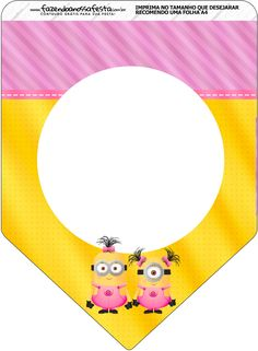 Minions Chicas:  Imprimibles Gratis para Fiestas. Minion Party Favors, Baby Painting, Minions Despicable Me, Minion Birthday, Bunting Flags, Party Printables, Party Themes, Decoration, Birthdays