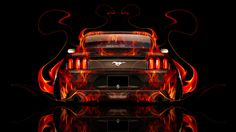 Marvelous Ford Mustang Muscle Back Fire Abstract Car 2014
