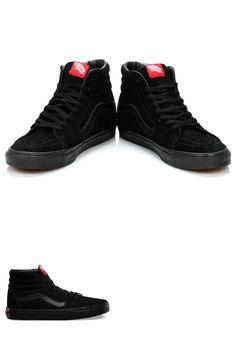 Footwear 50883  Vans Sk8-His Black Black (Suede) -  BUY IT NOW ONLY   59.95  on  eBay  footwear  black d81be9bb0e1
