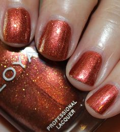 Autumn is a medium copper with gold shimmer.
