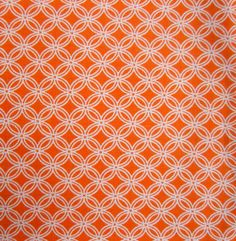 Bucket for beach page. One of the shapes on the shape page. Quilter's Showcase Fabric- Quatrefoil White & Orange, , hi-res