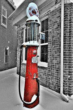 Snowy day in downtown Ord, Nebraska ~ Photo by...Greg Jensen©