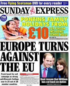 Sunday Express School Hols, Flying Scotsman, February 2016, Bbc, Finance, Campaign, Sunday, Europe, Twitter