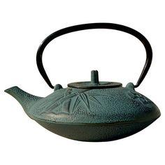 Cast iron tetsubin teapot with bamboo motif.  Product: TeapotConstruction Material: Cast ironColor: ...
