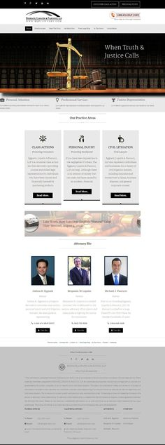 law firm website design – ELP Lawyers on Behance