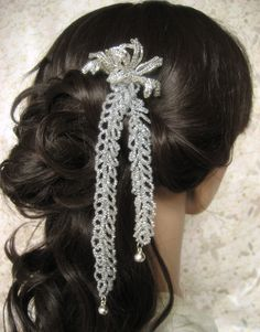 Isis  French Beaded Flower Hair Stick Fork Pin by eillie00 on Etsy