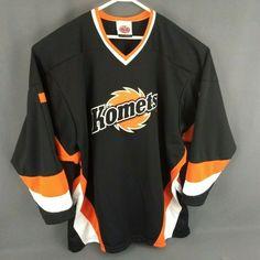 53c0d2787bf Fort Wayne Komets Hockey Game Jersey Mens XL Road Black Minor League  Embroidered  K1Sportswear