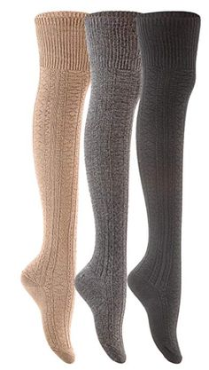 Remarkable Big Girls Womens 4 Pairs Thigh High Cotton Socks L1022 One Size