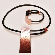 Conjunto de cobre, colgante y pulsera | Ale Tapia | Patagonia • Chile.