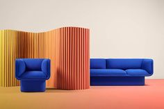 Block Blue Armchair, Studio Mut 2