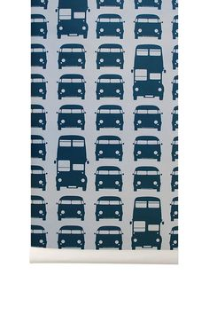 Rush Hour Kids Wallpaper in Petrol design by Ferm Living