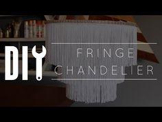 DIY Boho Fringe Chandelier | Hometalk