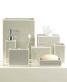 Kassatex Bath Accessories, Gray Soho Collection - Bathroom Accessories - Bed & Bath - Macy's