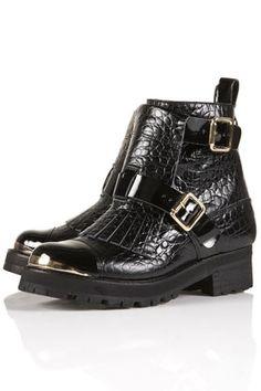 ALIEN Chunky Fringe Boots @ topshop