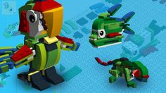 Incredible Creatures Lego: Rainforest - Parrot, Chameleon and Piranha