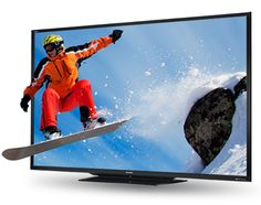 """Enjoy a truly bigger, better experience with our new 90"""" AQUOS LED TV! #EssentialTechnology"""
