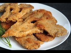 Kotlety z boczniaków coś wspaniałego :-) - YouTube Luty, Onion Rings, Cooking Recipes, Chicken, Ethnic Recipes, Green, Youtube, Food, Diet